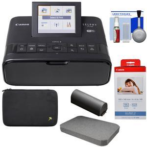 Canon SELPHY CP1300 Wi-Fi Wireless Compact Photo Printer with NB-CP2LH Battery Pack with KP-108IN Color Ink Paper Set + Custom Case and Removable Foam + Kit