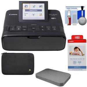 Canon SELPHY CP1300 Wi-Fi Wireless Compact Photo Printer - Black - with KP-108IN Color Ink Paper Set + Custom Case and Removable Foam + Kit