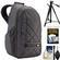 Case Logic CPL108 Small Digital SLR Camera & iPad/Tablet Backpack (Grey) with Tripod + Accessory Kit