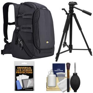 Case Logic DSB-102 Luminosity Digital SLR Camera Backpack Case - Black - with Tripod + Accessory Kit