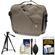 Case Logic Reflexion Digital SLR Camera & Tablet Messenger Bag (Morel) with Tripod + Accessory Kit