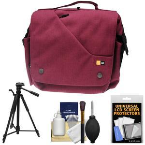 Case Logic Reflexion Digital SLR Camera and Tablet Messenger Bag - Pomegranate - with Tripod + Accessory Kit