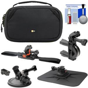 Case Logic Kontrast KAC-101 Case fits GoPro - Action Cameras with Handlebar Helmet Car Suction Cup and Dashboard Mounts + Kit