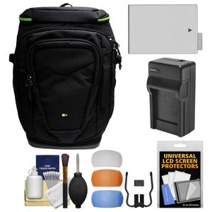 Case Logic Kontrast KDB-101 Pro DSLR Camera Backpack Case with LP-E8 Battery and Charger + Kit for Canon Rebel T3i T4i T5i
