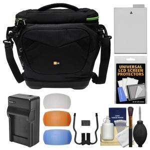 Case Logic Kontrast KDM-102 DSLR Camera Shoulder Bag with LP-E8 Battery and Charger + Kit for Canon Rebel T3i T4i T5i