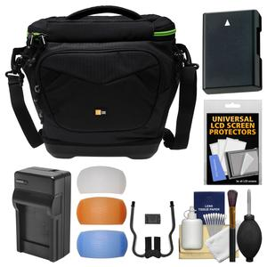 Case Logic Kontrast KDM-102 DSLR Camera Shoulder Bag with EN-EL14 Battery & Charger + Kit for Nikon Df D3200 D3300 D5200 D5300 D5500