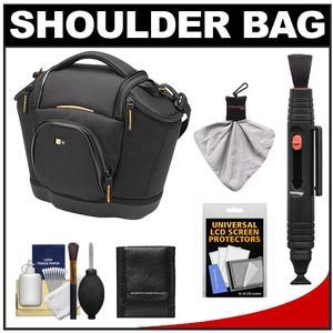 Case Logic Digital SLR Medium Shoulder Bag-Case-Black-- SLRC-202-with Cleaning Kit and Accessory Kit