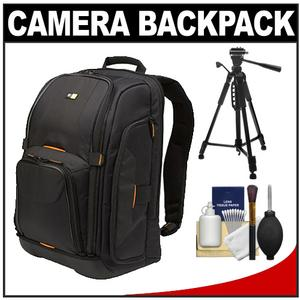 Case Logic Digital SLR Camera Backpack Case (Black) (SLRC-206) with Tripod + Accessory Kit