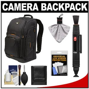 Case Logic Digital SLR Camera Backpack Case-Black-- SLRC-206-with Cleaning Kit and Accessory Kit