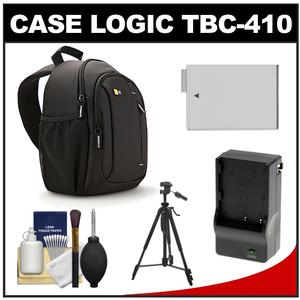 Case Logic TBC-410 Digital SLR Camera Sling Case (Black) with LP-E8 Battery & Charger + Tripod + Kit for Rebel T3i T4i T5i