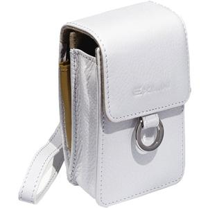 Exilim EX-CASE30WE Leather Digital Camera Case-White -