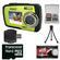Coleman Duo 2V7WP Dual Screen Shock & Waterproof Digital Camera (Green) with 16GB Card & Reader + Accessory Kit