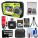 Coleman Duo 2V7WP Dual Screen Shock & Waterproof Digital Camera (Green) with 16GB Card & Reader + Batteries & Charger + Case + Float Strap + Accessory Kit