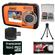 Coleman Duo 2V7WP Dual Screen Shock & Waterproof Digital Camera (Orange) with 16GB Card & Reader + Accessory Kit