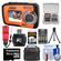 Coleman Duo 2V7WP Dual Screen Shock & Waterproof Digital Camera (Orange) with 16GB Card & Reader + Batteries & Charger + Case + Float Strap + Accessory Kit