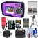 Coleman Duo 2V7WP Dual Screen Shock & Waterproof Digital Camera (Purple) with 16GB Card & Reader + Batteries & Charger + Case + Float Strap + Tripod + Kit