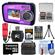 Coleman Duo 2V7WP Dual Screen Shock & Waterproof Digital Camera (Purple) with 16GB Card & Reader + Batteries & Charger + Case + Float Strap + Accessory Kit