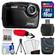 Coleman Xtreme2 C12WP Shock & Waterproof Digital Camera with HD Video (Black) with 16GB Card + Case + Tripod + Accessory Kit