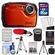 Coleman Xtreme2 C12WP Shock & Waterproof Digital Camera with HD Video (Orange) with 16GB Card + Case + Batteries & Charger + 2 Tripods + Accessory Kit