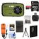 Coleman Xtreme C5WP Shock & Waterproof Digital Camera (Green) with 8GB Card + Battery + Floating Strap + Case + Accessory Kit
