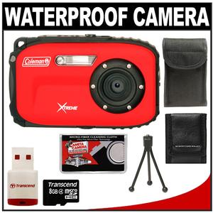Coleman Xtreme C5WP Shock + Waterproof Digital Camera (Red) with 8GB Card + Case + Accessory Kit at Sears.com