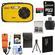 Coleman Xtreme C5WP Shock & Waterproof Digital Camera (Yellow) with 8GB Card + Battery + Floating Strap + Case + Accessory Kit
