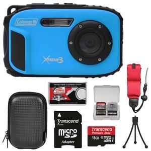 Buy Coleman Xtreme3 C9WP Shock & Waterproof 1080p HD Digital Camera (Blue) with 16GB Card + Case + Tripod + Float Strap + Kit Before Too Late