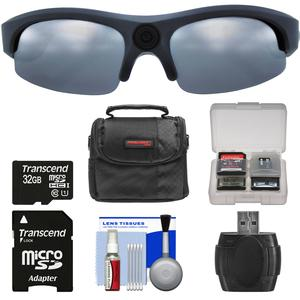 Coleman VisionHD G3HD-SUN 1080p HD Video Camera Weatherproof Action Polarized Sunglasses with 32GB Card + Case + Reader + Kit
