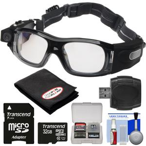 Coleman VisionHD G5HD-SPORT 1080p HD Video Camera Waterproof POV Sports Safety Goggles with 32GB Card + Reader + Anti-Fog Cloth + Kit