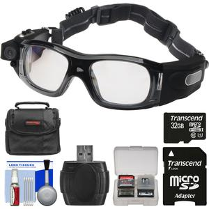 Coleman VisionHD G5HD-SPORT 1080p HD Video Camera Waterproof POV Sports Safety Goggles with 32GB Card + Case + Reader + Kit