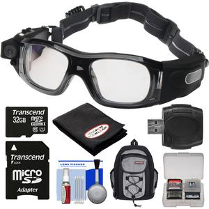 Coleman VisionHD G5HD-SPORT 1080p HD Video Camera Waterproof POV Sports Safety Goggles with 32GB Card + Backpack + Anti-Fog Cloth + Reader + Kit