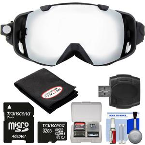 Coleman VisionHD G9HD-SKI 1080p HD Video Camera Camcorder Waterproof POV Snow Ski Goggles with 32GB Card + Reader + Anti-Fog Cloth + Kit