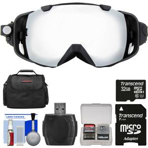 Coleman VisionHD G9HD-SKI 1080p HD Video Camera Camcorder Waterproof POV Snow Ski Goggles with 32GB Card + Case + Reader + Kit