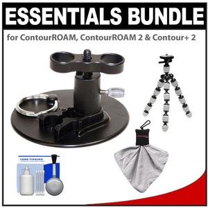 Essentials Bundle for ContourROAM  ContourROAM 2 & Contour+ 2 Action Camcorders with Surfboard Mount + Flex Tripod + Accessory Kit
