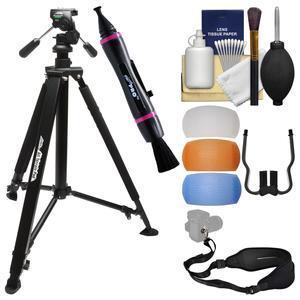 Davis and Sanford 61 inch All Terrain Pod Tripod with FZ10 Head and Case with Diffuser Filters + Sling Strap + Kit