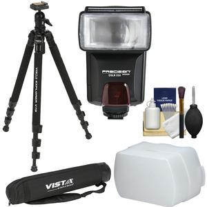 Davis and Sanford 63 inch Vista Explorer VTB Tripod with Ball Head and Case with Camera Flash and Diffuser + Cleaning Kit