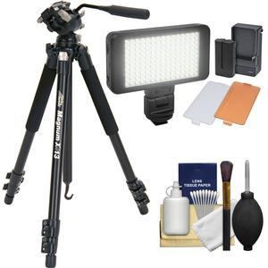 Davis and Sanford 72 inch Magnum XG13 Professional Photo-Video Tripod with Case + LED Light Kit + Cleaning Kit