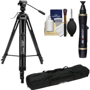 Davis and Sanford ProVista 12 Professional Video Tripod with V12 Head and Case with Lenspen + Kit