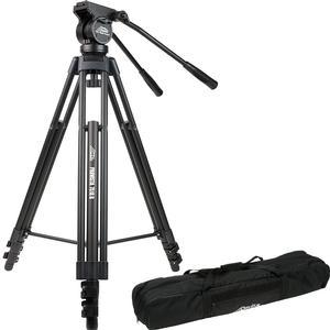Davis and Sanford 64 inch ProVista 7518B Pro Video Tripod with V18 Fluid Head and Case