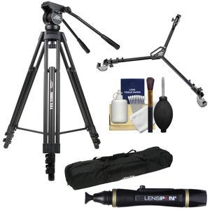 Davis and Sanford 64 inch ProVista 7518B Pro Video Tripod with V18 Fluid Head and Case + W3 Universal Dolly + Lenspen + Accessory Kit