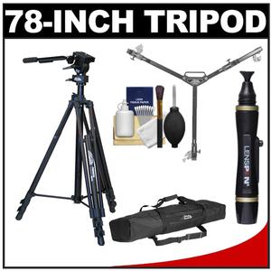 Davis and Sanford 78 inch ProVista 18 Heavy Duty Video Tripod with FM18 Fluid Head and Case + W3 Universal Dolly + Cleaning Kit