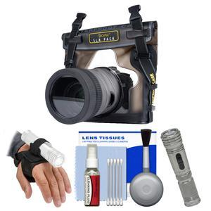DiCAPac WP-S10 Waterproof Case for DSLR Cameras with LED Torch and Handstrap + Kit