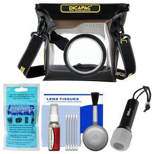 DiCAPac WP-S3 Waterproof Case for ILC Cameras with LED Torch + Kit