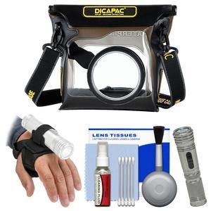 DiCAPac WP-S3 Waterproof Case for ILC Cameras with LED Torch and Hand Strap + Kit