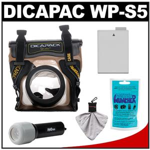 DiCAPac WP-S5 Waterproof Case for Digital SLR Cameras with LP-E8 Battery and LED Torch and Accessory Kit