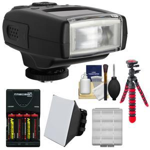 Digitalmate 130 High Power Compact Flash-for Olympus-Panasonic Micro 4-3-with Batteries and Charger and Soft Box and Flex Tripod and Kit