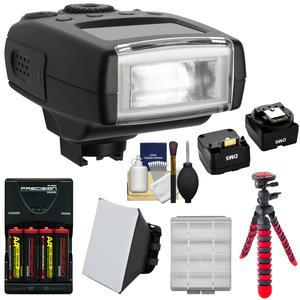 Digitalmate 130 High Power Compact Flash - for Sony Alpha - NEX Cameras - with Batteries and Charger + Soft Box + Flex Tripod + Kit