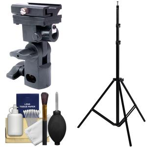 Precision Design DL-0318 Shoe Mount Flash and Umbrella Holder with Light Stand and Cleaning Kit