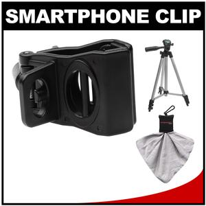 DLC Tripod Spring Clip for Apple iPhone and Smartphone with Tripod + Cleaning Cloth