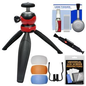 DLC Mini Adjustable Tripod with Removable Ball Head with Flash Filters + Cleaning Kit